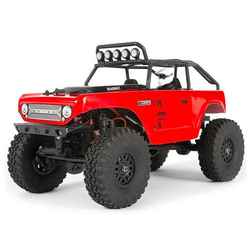 1/24 SCX24 Deadbolt 4WD Rock Crawler Brushed RTR(red)