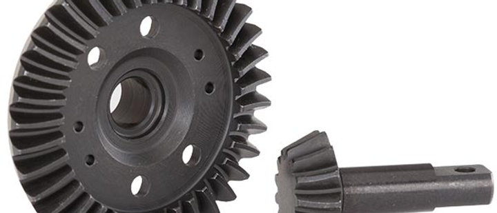 TRA5379R Traxxas Ring gear, / pinion gear, differential (machined, spiral