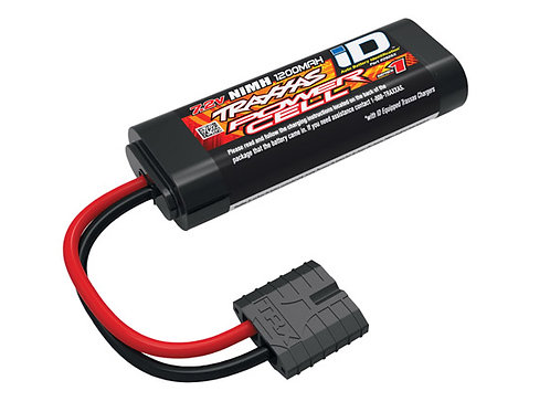tra2925x Traxxas Series 1 1200mAh 7.2V NiMH 1/16 Battery iD Plug 95x18x35mm