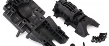 Tra8629 Traxxas Bulkhead, rear (upper & lower)4x12mm BCS (6) need #8622 chassis)