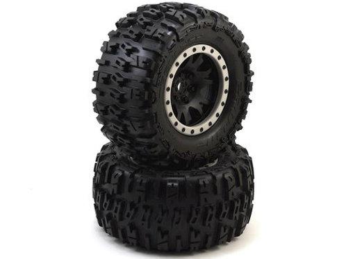 """Trencher 4.3"""" X-MAXX MTD Impulse Front Rear Tire, Black/Gray (PRO1015113)"""