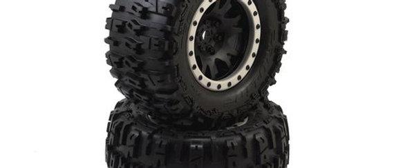 """PRO1015113  4.3"""" X-MAXX MTD Impulse Front Rear Tire, Black/Gray (PRO1015113)"""