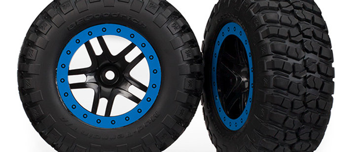 TRA5883A Traxxas Tires & wheels, assembled, glued