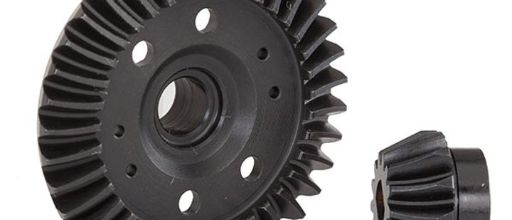 TRA6879R Traxxas Ring gear, differential/ pinion gear, differential (machined,