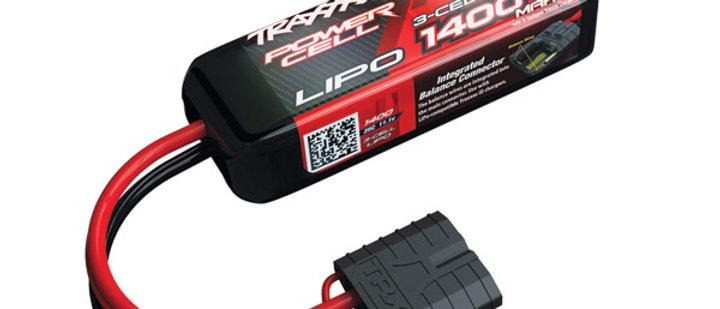 TRA2823X Traxxas 1400mAh 3S 11.1V 25C LiPo iD Connector Soft Case 88x20x35mm