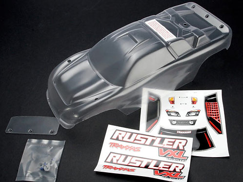 TRA3714 Traxxas - Body, Rustler (clear, requires painting)/window