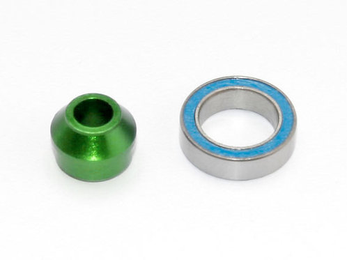 TRA6893G Traxxas Bearing adapter, 6061-T6 aluminum (green-anodized)