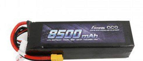 GA-B-50C-8500-4S1P-XT60T 14.8V 50C 4S 8500mAh Lipo Battery Pack with XT60 Plug