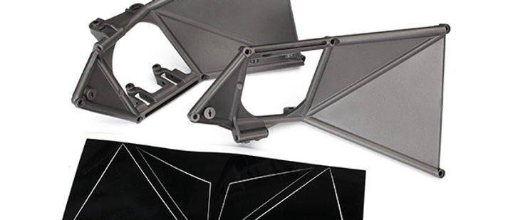 tra8534 Traxxas Mounts, suspension arm, upper (front) (left & right)