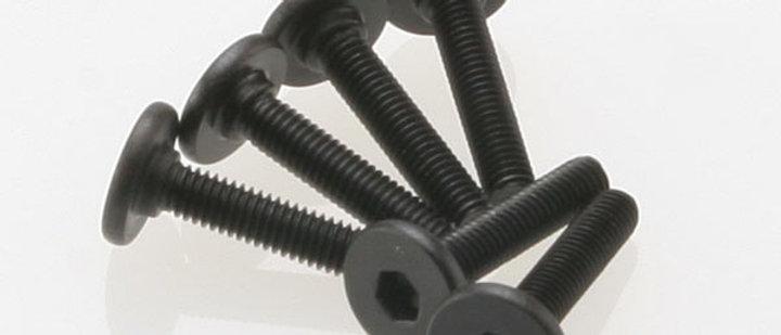 TRA3646 Traxxas 3x15mm Flat Head Screw (6) (VXL)