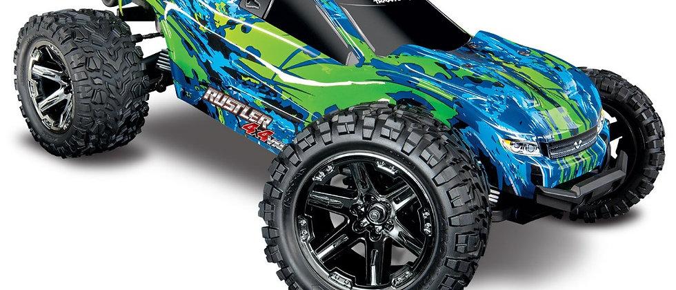 Traxxas Rustler VXL Brushless 1/10 RTR 4x4 Stadium Truck- vert- sans batt/charge