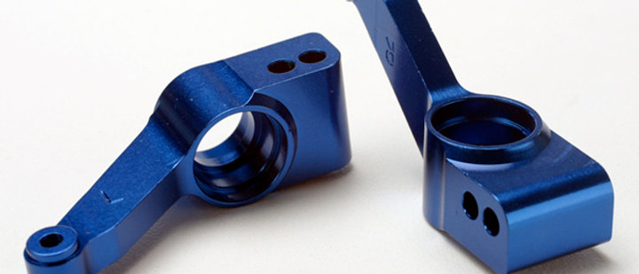 TRA1952X Traxxas Rear Stub Axle Carriers (Blue) (2)