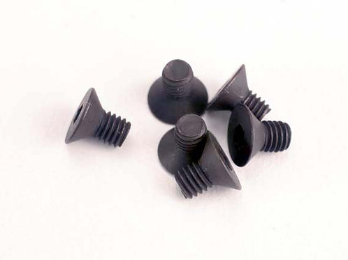 TRA2549 Traxxas Screws, 3x5mm Countersunk Machine (6) (Hex Drive)