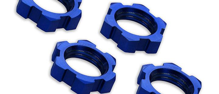 TRA7758 Traxxas X-Maxx 17mm Splined Wheel Nut (Blue) (4)