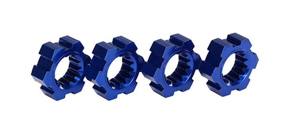 TRA7756X Traxxas X-Maxx Aluminum Wheel Hex Hub (Blue) (4)