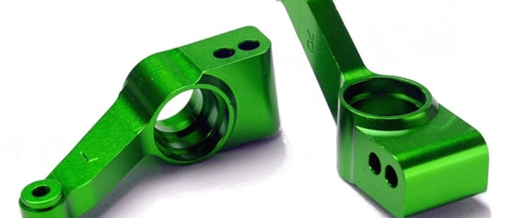 TRA1952G Traxxas Rear Stub Axle Carriers (green-anodized 6061-T6 aluminum) (2)