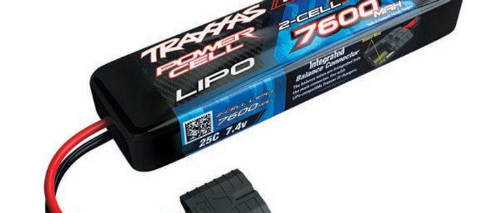 TRA2869X Traxxas 7600mAh 2S 7.4V 25C LiPo iD Connector Soft Case 155x27x43mm