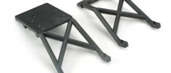TRA3623 Traxxas Skid plates, front & rear (black)