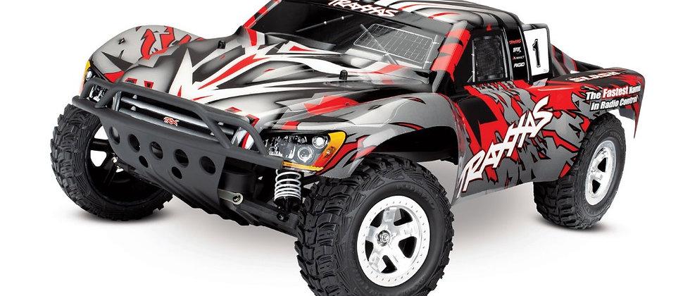 Traxxas Slash 2WD 1/10 rouge, moteur a brosse( pas de batterie ni chargeur)