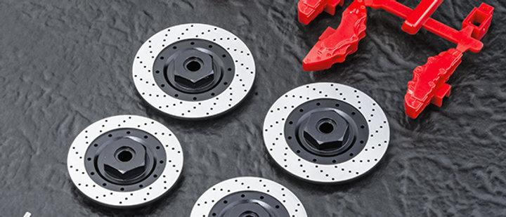 820135 Alum. wheel hubs 6mm (large brake disc shaped)