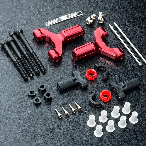 MST 820117R Alum. front lower arm set (rouge)