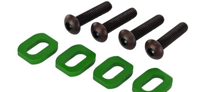 TRA7759G Traxxas Washers, motor mount, aluminum (green-anodized) (4)