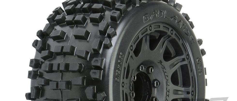 "pro1178-10 Pro-Line Badlands 3.8"" MTD Raid 8x32 Wheels 17mm MT F/R"