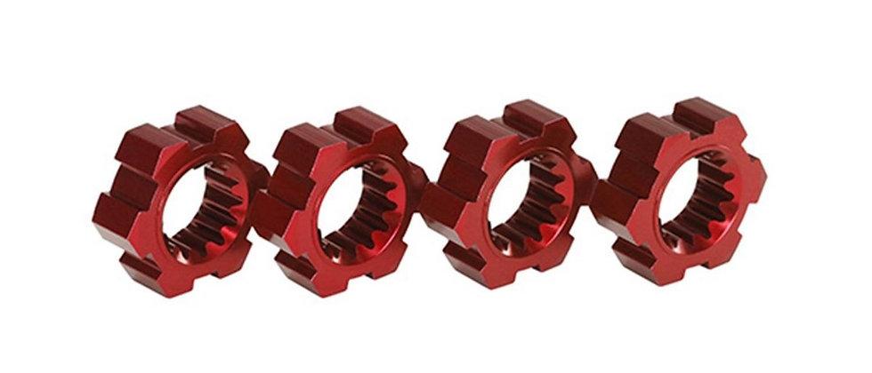 TRA7756R Traxxas X-Maxx Aluminum Wheel Hex Hub (Red) (4)