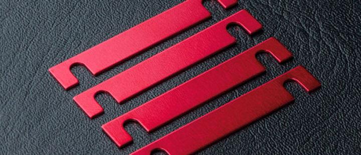 820063R MSR  Suspension mount spacer 0.5mm (4) (red)