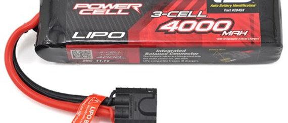 TRA2849X Traxxas 4000mAh 3S 11.1V 25C LiPo iD Connector Soft Case 135x26x43mm