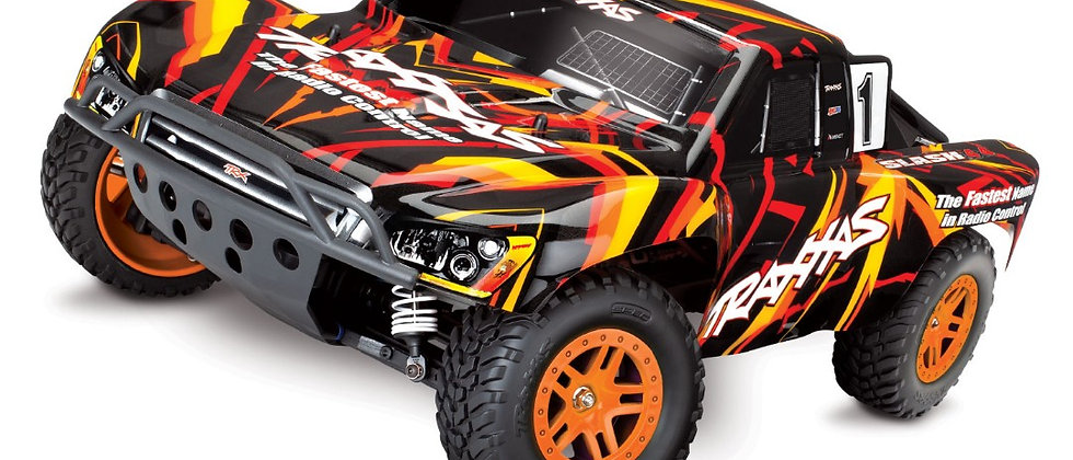 TRA68054-1 Slash 4X4 RTR 4WD Brushed Short Course Truck (orange)