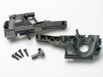 TRA5330 Traxxas Revo Bulkhead, front (L&R halves)/ diff retainer/ 4x14mm BCS (4)
