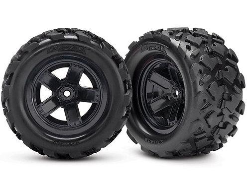 TRA7672 Traxxas LaTrax Assembled Teton 5-Spoke Wheels & Tires (2)
