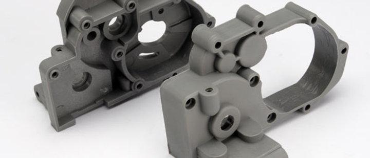 TRA3691A Traxxas Gearbox Halves w/Idler Shaft (Gray)