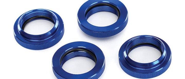 TRA7767 Traxxas X-Maxx Aluminum GTX Threaded Collar (Blue) (4)