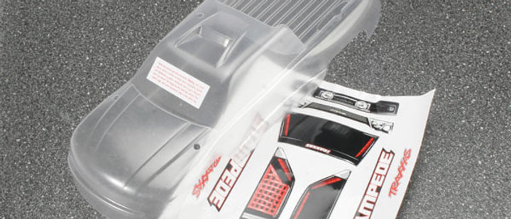 TRA3617 Traxxas Body, Stampede (clear, requires paintingrequires #3614 to mount)