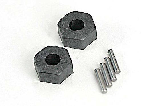 TRA1654 Traxxas Wheel hubs, hex (2)/ stub axle pins (2)