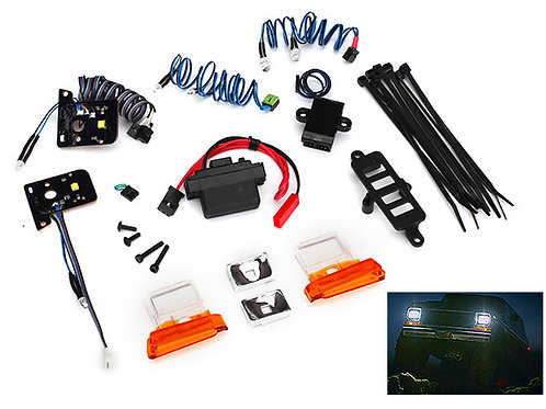Traxxas Bronco LED light set, complete with power supply (contains headlights,