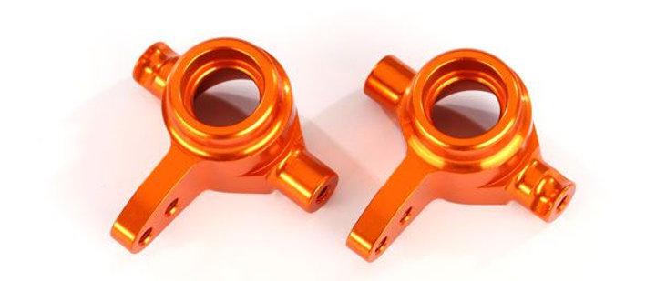 TRA6837A Traxxas Aluminum Steering Block Set (Orange) (2)