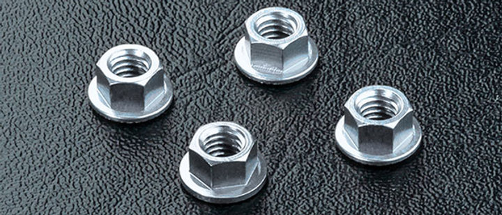 820001S Alum. wheel nut (silver) (4)