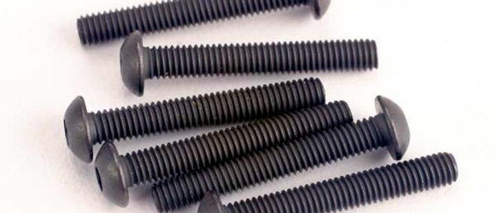tra2580 Traxxas 3X20mm Button Head Screws (Hex Drive) (6)