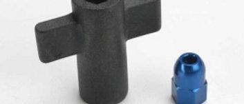 TRA5526  Antenna crimp nut, aluminum (blue-anodized)/ antenna nut tools