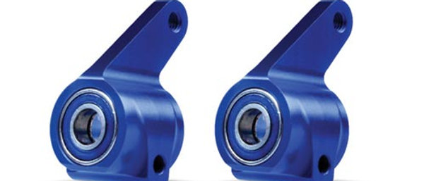 TRA3636A Traxxas Aluminum Steering Blocks w/Ball Bearings (Blue) (2)