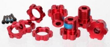 TRA5353R Traxxas 17mm Splined Wheel Hub Set (Red) (4)