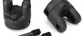 TRA8658 Traxxas Yokes, transmission (2)/ 4x15mm screw pins (2)