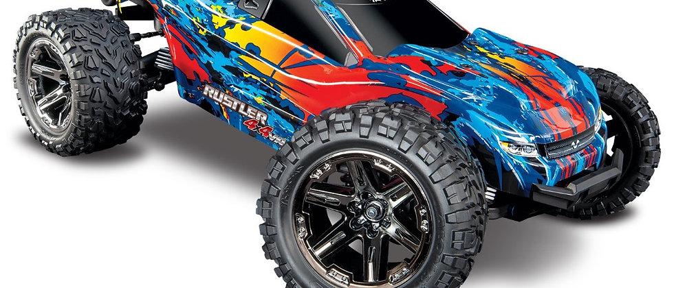 Traxxas Rustler VXL Brushless 1/10 RTR 4x4 Stadium Truck - rouge sans batt/charg