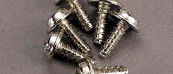 TRA3290  Screws, 3x8mm washerhead self-tapping (6)
