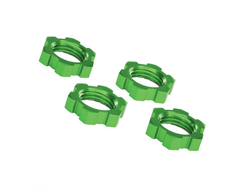 TRA7758G Traxxas X-Maxx 17mm Splined Wheel Nut (Green) (4)