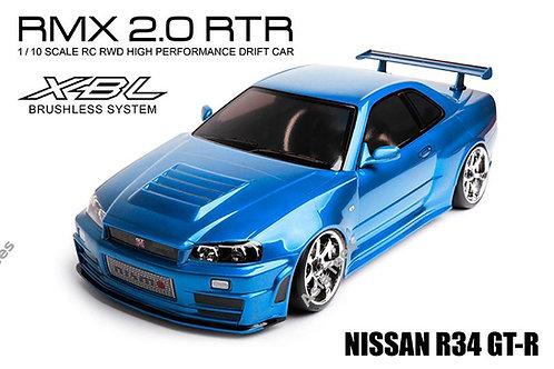 MST 533703 RMX 2.0 RTR Nissan R34 GT-R (brushless) Bleu