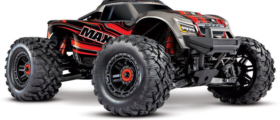 Traxxas Maxx with 4S ESC - Red 1/10 Scale 4WD Brushless rouge